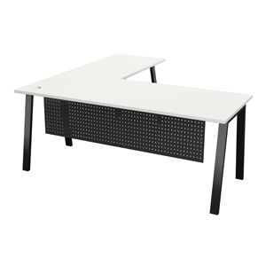 Quad Desk and Return with optional modesty panel Thumbnail