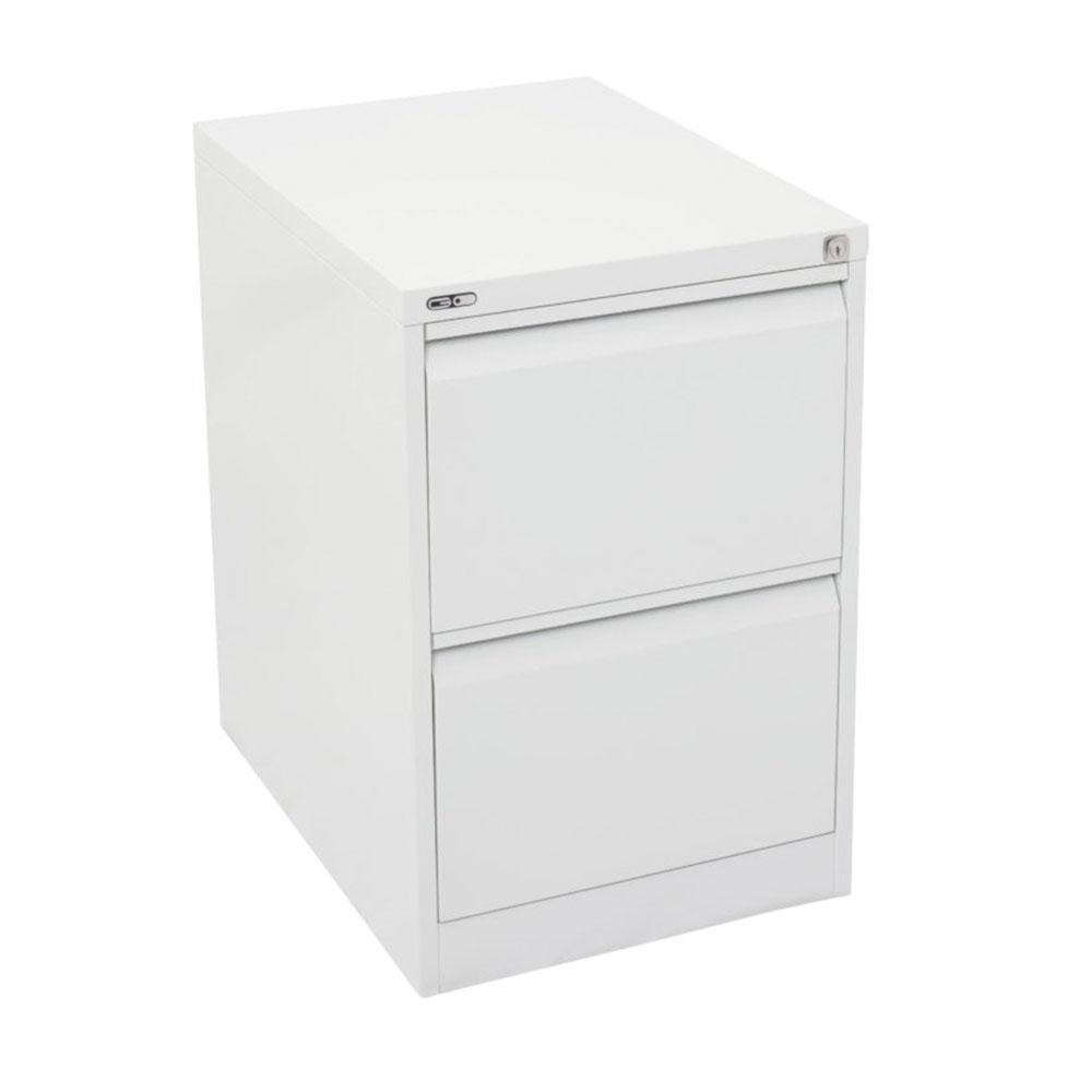 Go Steel 2 Drawer Filing Cabinet Satin