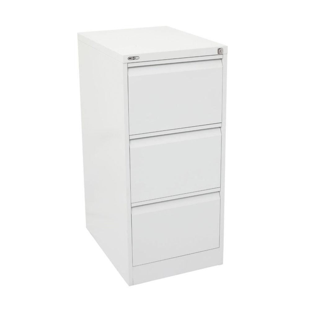 Go Steel 3 Drawer Filing Cabinet Satin