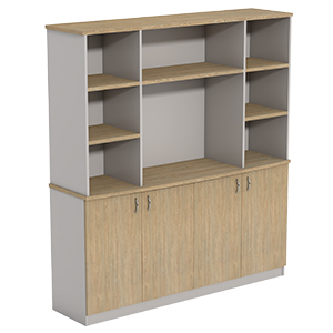 Ecotech Executive Overhead Bookcase On BF Crendenza No Doors Thumbnail