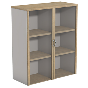 Ecotech Overhead Bookcases With Hinged Glass Doors Thumbnail