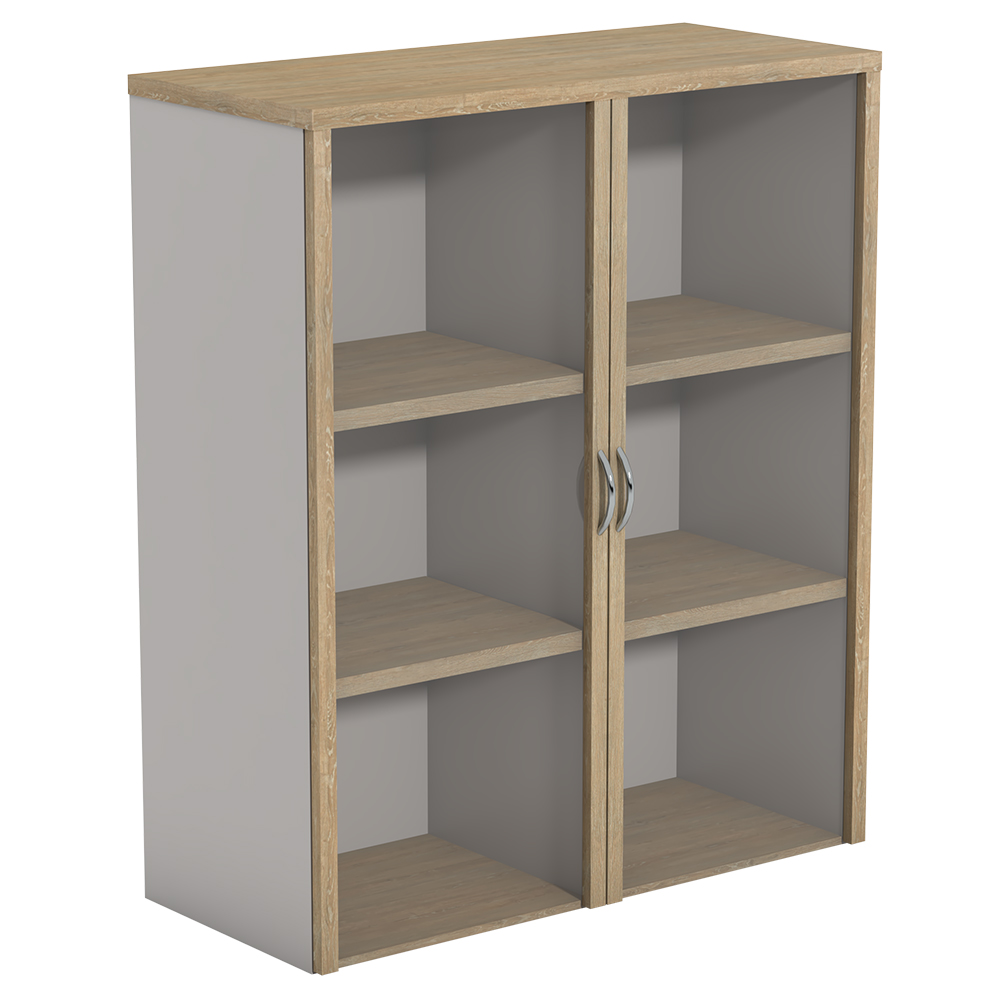 Ecotech Overhead Bookcases With Hinged Glass Doors