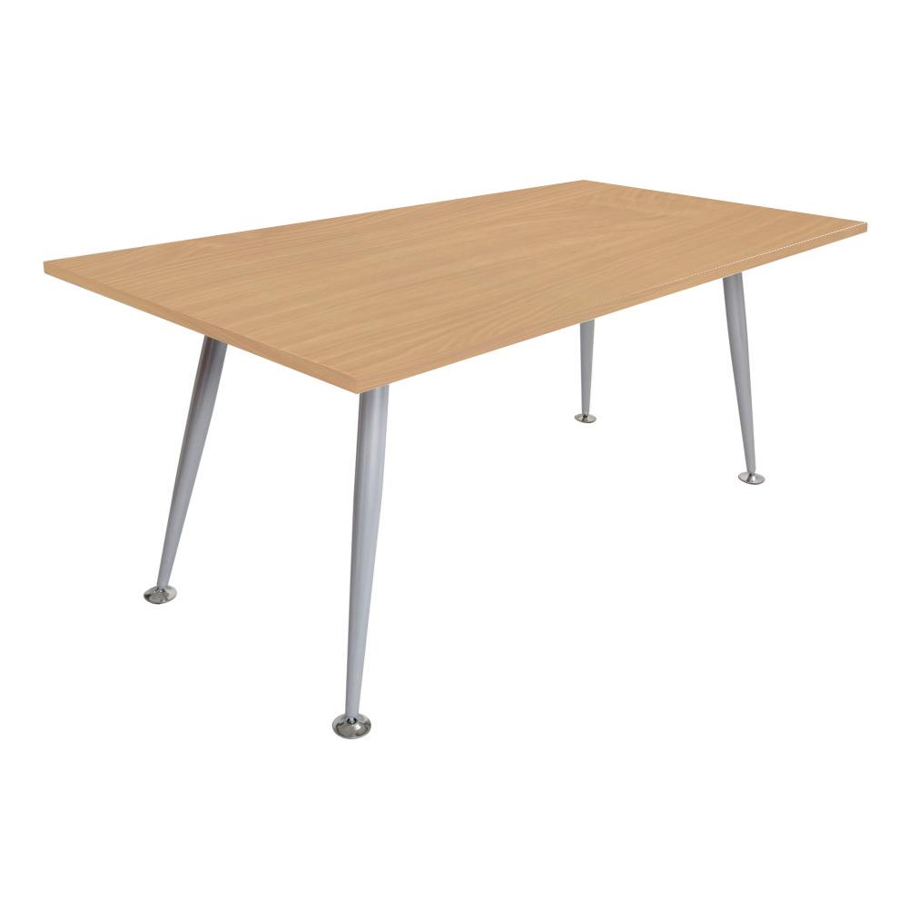 Silver Frame table Beech Top