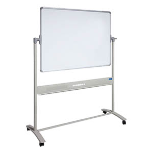 Mobile Porcelain Magnetic Whiteboard Pivoting Thumbnail